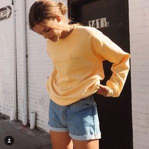Brandy Melville Erica Honey Embroidered Sweatshirt